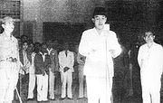 Soekarno-Hatta proclaimed the independence of Indonesia
