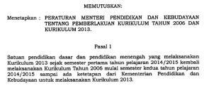 image pasal 1 permendikbud 160-2014