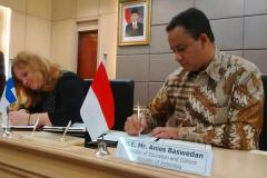 image ministers of education Indonesia - Finland signed MoU